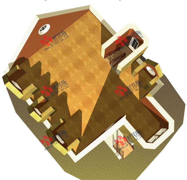 трёхэтажный дом из камня площадью свыше 200 кв. м. с  эркером, проект Вариант 20 фотография 651