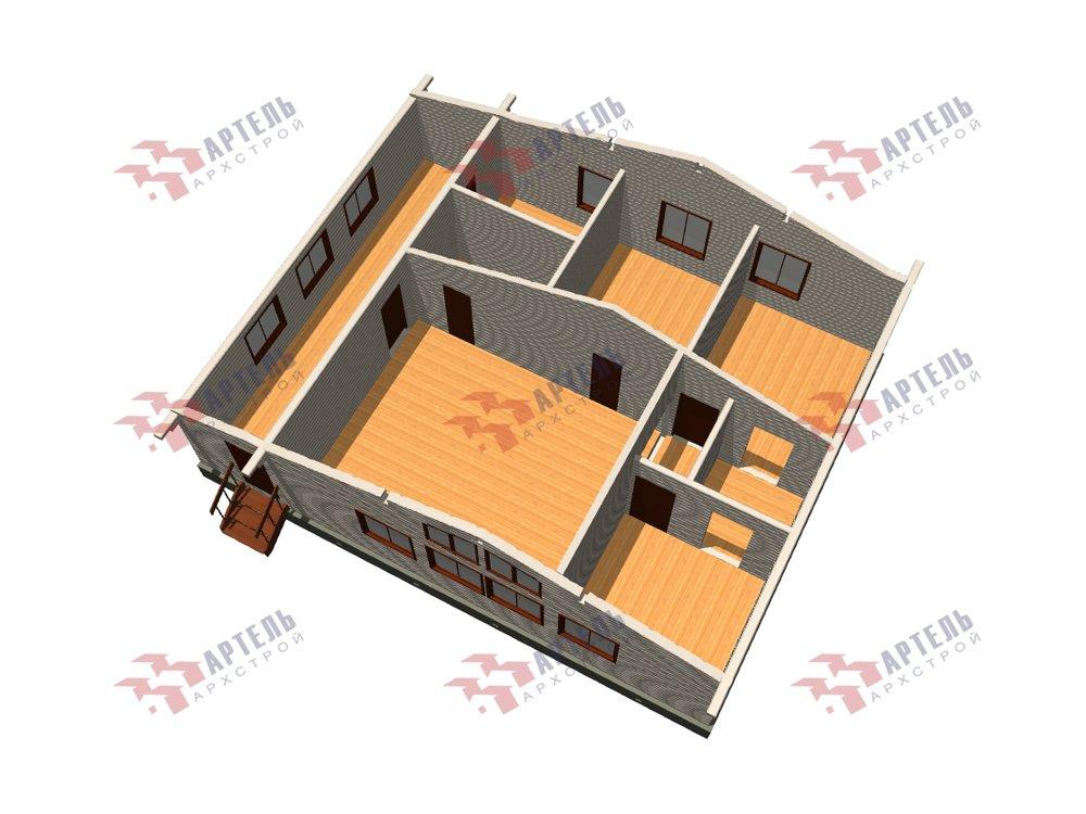 одноэтажный дом из профилированного бруса площадью от 100 до 150 кв. м. с  террасой, проект Вариант 9.8 К фотография 5820