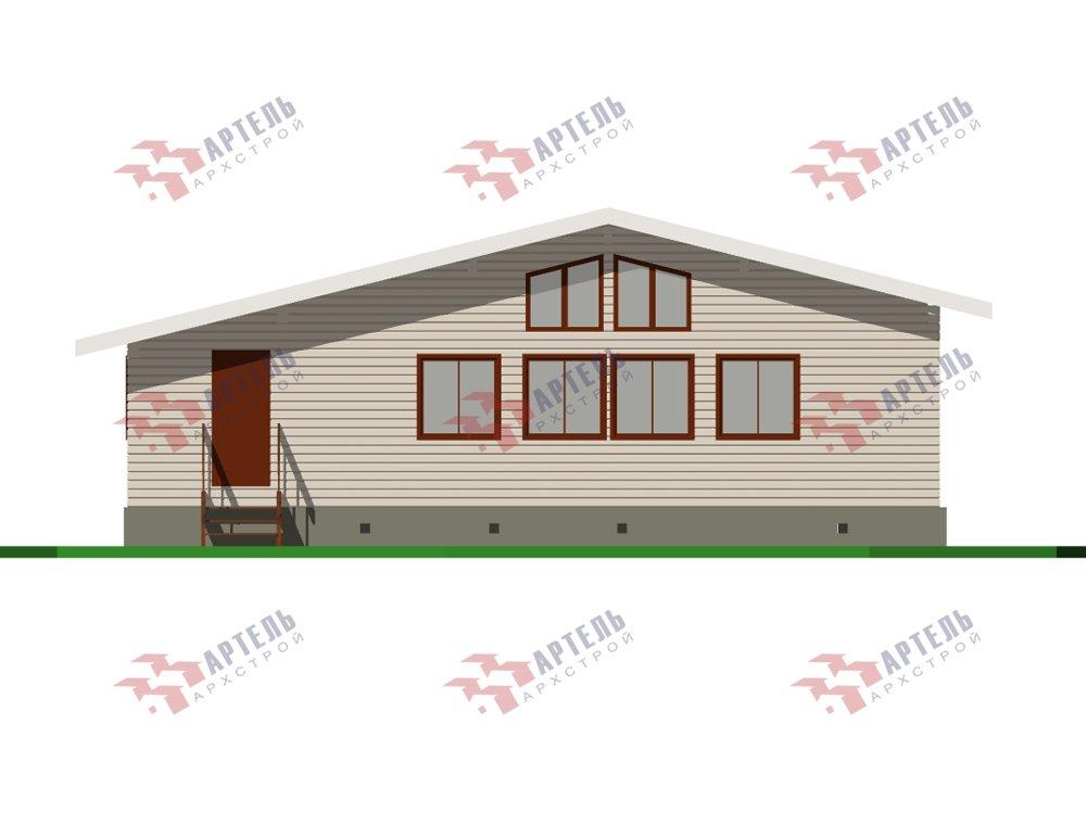 одноэтажный дом из профилированного бруса площадью от 100 до 150 кв. м. с  террасой, проект Вариант 9.8 К фотография 5821