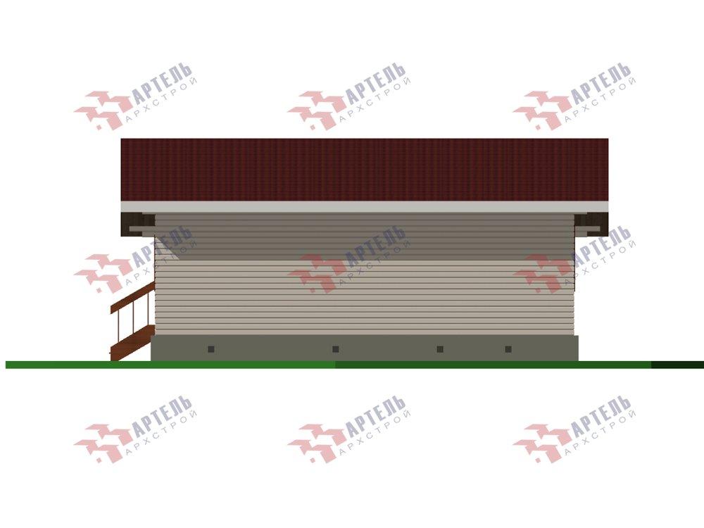 одноэтажный дом из профилированного бруса площадью от 100 до 150 кв. м. с  террасой, проект Вариант 9.8 К фотография 5822
