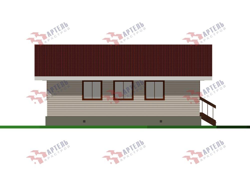 одноэтажный дом из профилированного бруса площадью от 100 до 150 кв. м. с  террасой, проект Вариант 9.8 К фотография 5824