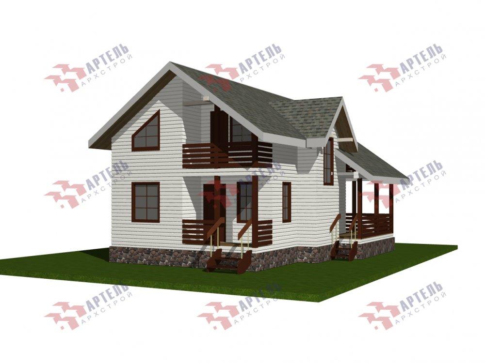 двухэтажный дом омбинированные дома площадью от 100 до 150 кв. м., проект Вариант 9,9К комбинированный фотография 5679