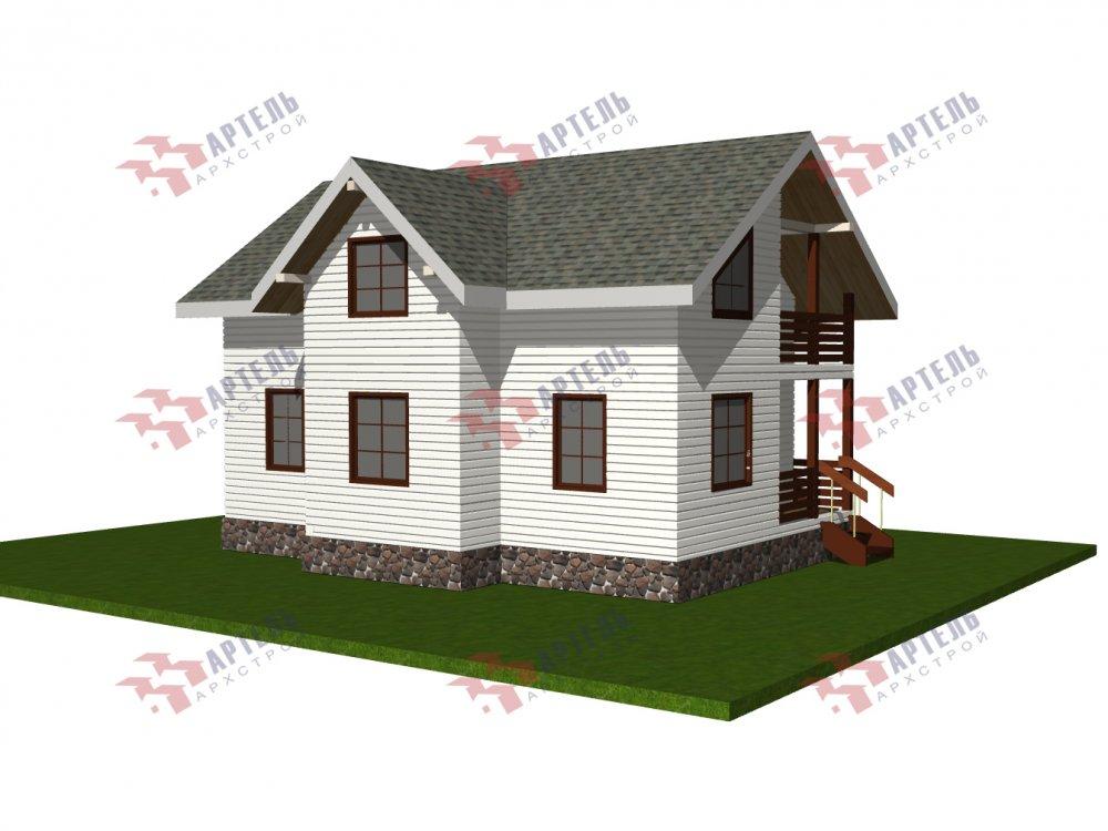 двухэтажный дом омбинированные дома площадью от 100 до 150 кв. м., проект Вариант 9,9К комбинированный фотография 5680