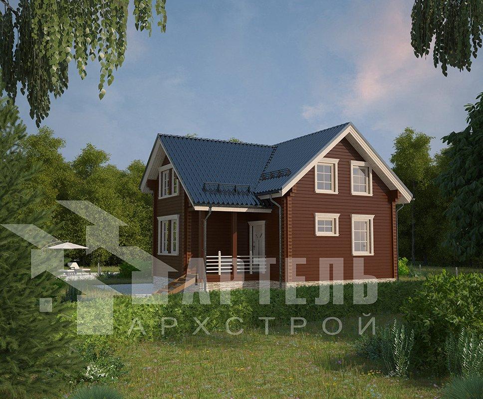 двухэтажный дом из профилированного бруса площадью от 100 до 150 кв. м. с  мансардой, эркером, проект Вариант 9 А фотография 4314