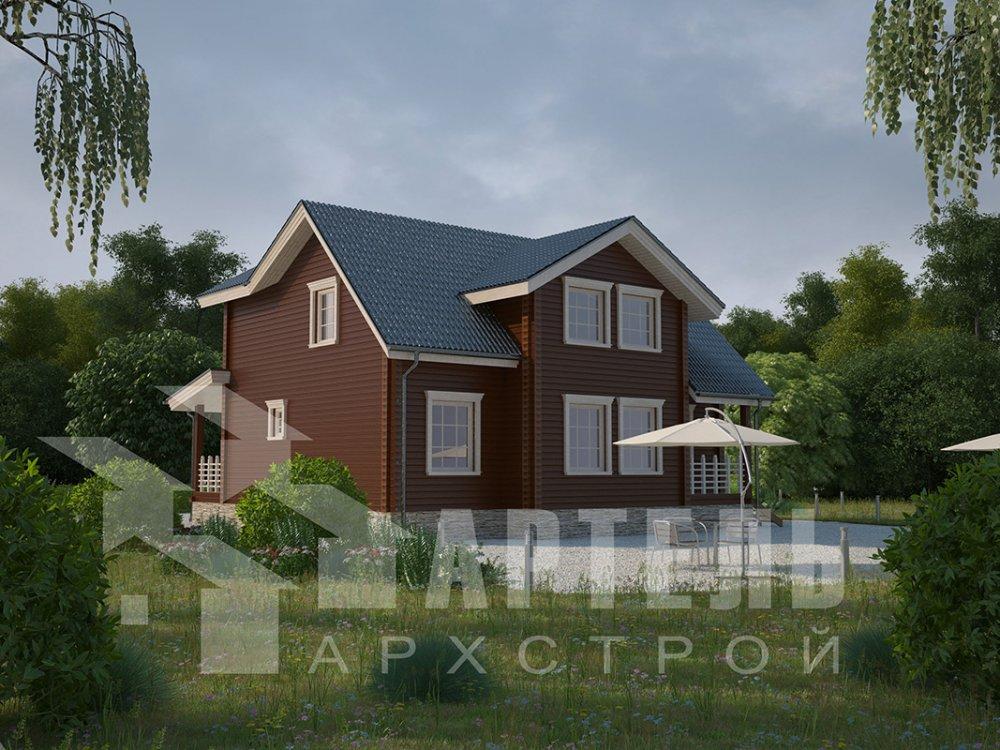 двухэтажный дом из профилированного бруса площадью от 150 до 200 кв. м., проект Вариант 9 О фотография 4501