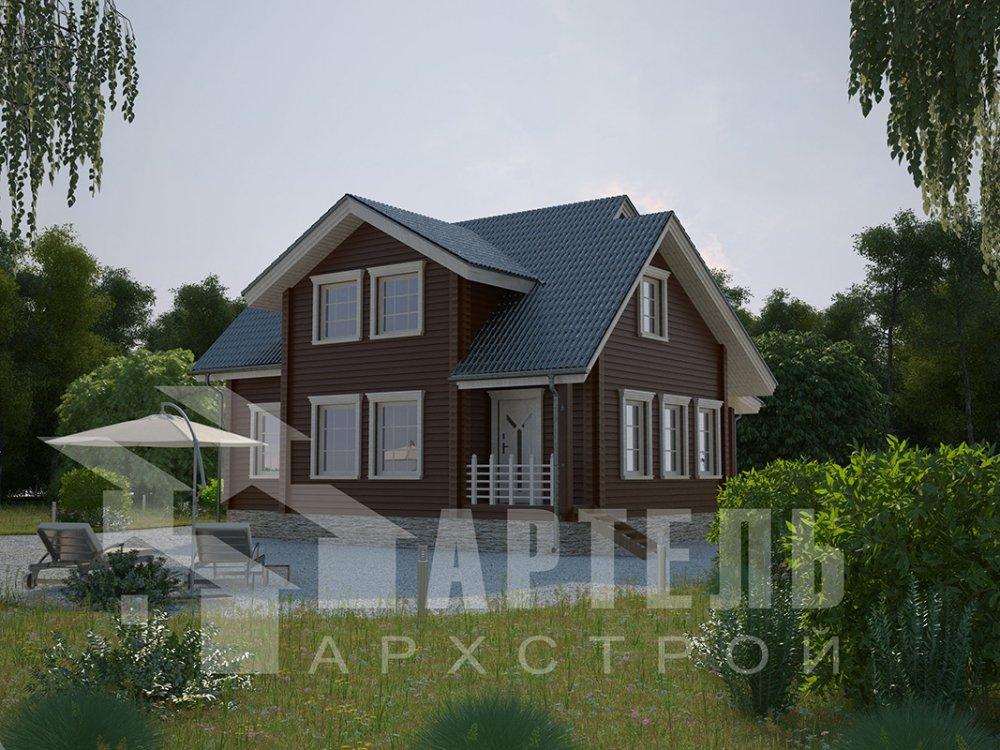 двухэтажный дом из профилированного бруса площадью от 150 до 200 кв. м., проект Вариант 9 О фотография 4500