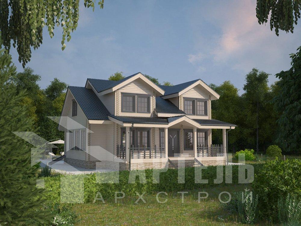 двухэтажный дом из профилированного бруса площадью от 150 до 200 кв. м., проект Вариант 9 О фотография 4498