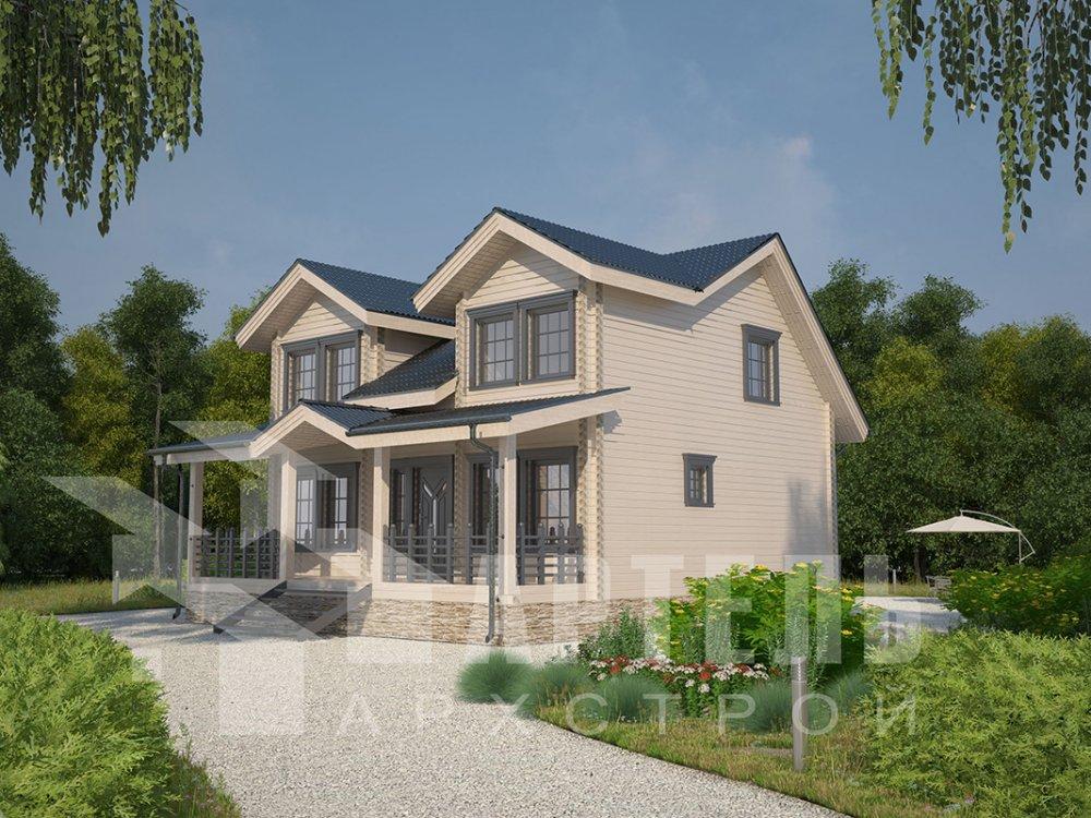 двухэтажный дом из профилированного бруса площадью от 150 до 200 кв. м., проект Вариант 9 О фотография 4496