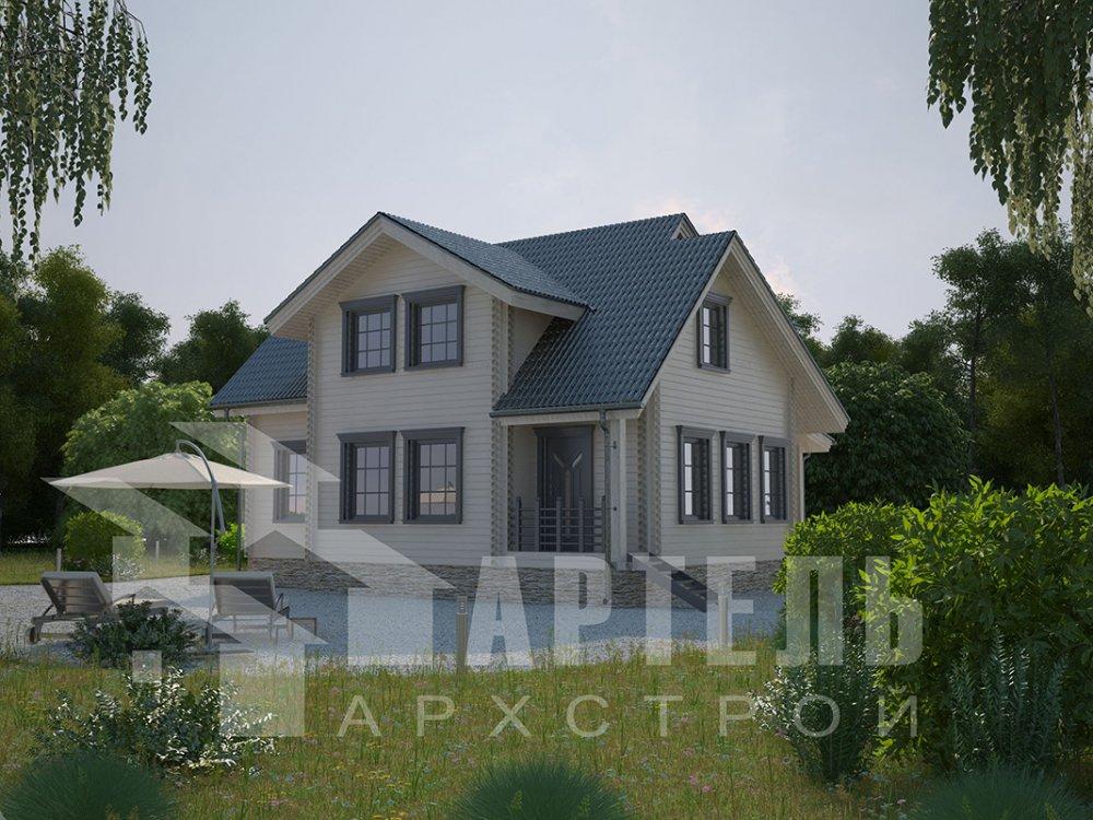 двухэтажный дом из профилированного бруса площадью от 150 до 200 кв. м., проект Вариант 9 О фотография 4494