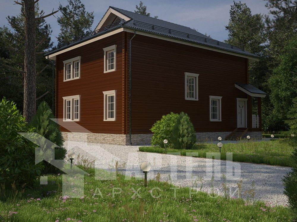 двухэтажный дом из профилированного бруса площадью свыше 200 кв. м. с  балконом, проект Вариант 9 Т фотография 4555