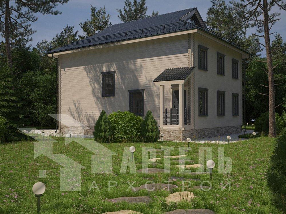 двухэтажный дом из профилированного бруса площадью свыше 200 кв. м. с  балконом, проект Вариант 9 Т фотография 4549