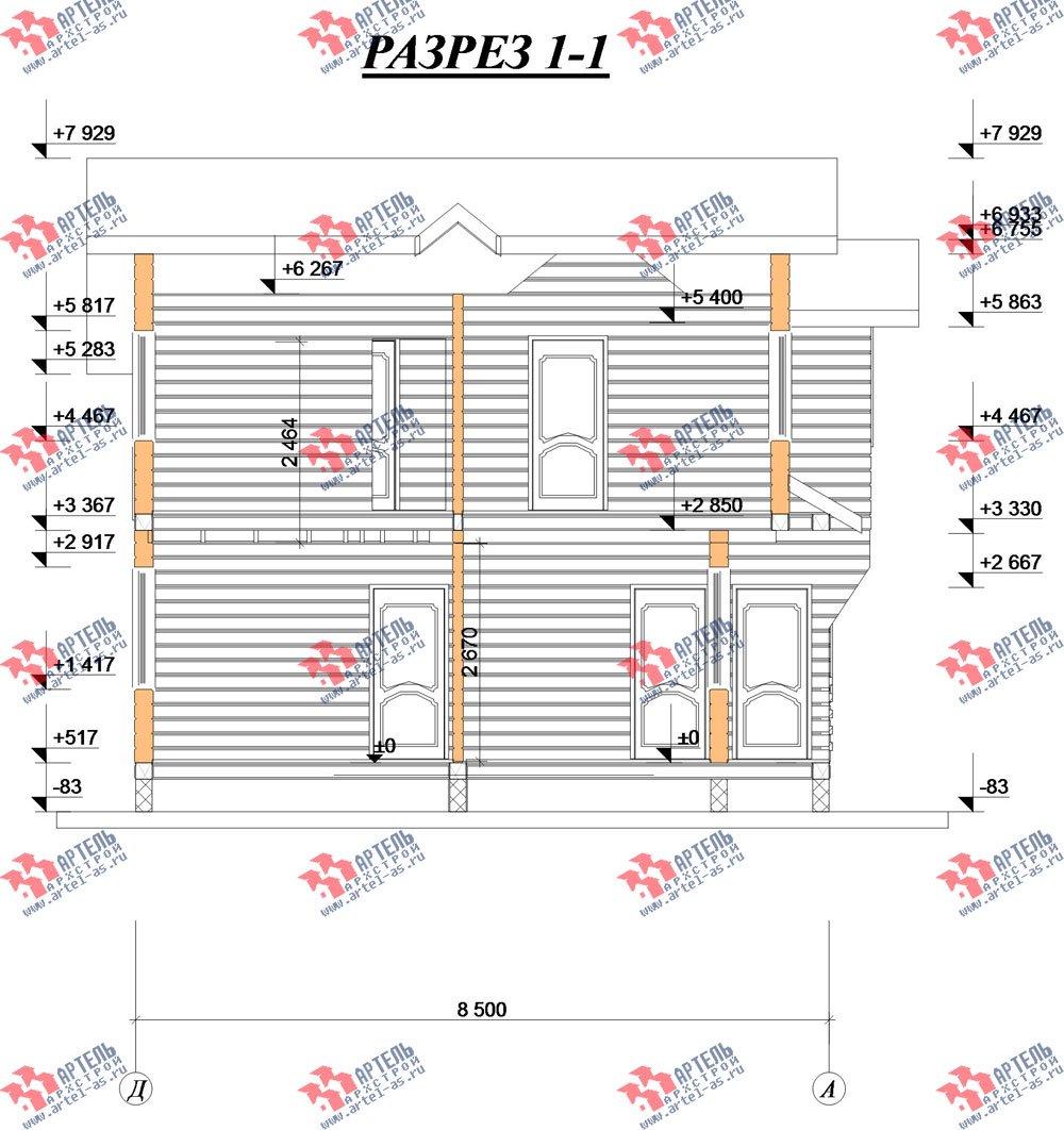 двухэтажный дом из профилированного бруса камерной сушки площадью от 100 до 150 кв. м. с  балконом, мансардой, террасой, проект Вариант 1 фотография 2526