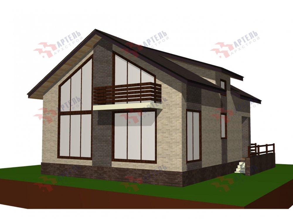 двухэтажный дом омбинированные дома площадью от 150 до 200 кв. м. с  балконом, проект Вариант 15 фотография 6439