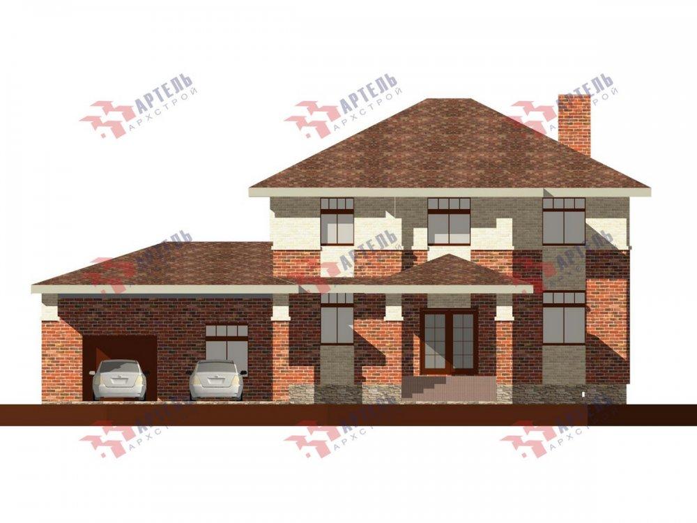 двухэтажный дом омбинированные дома площадью свыше 200 кв. м., проект Вариант 18,4А Камень и Комбинированный фотография 6071