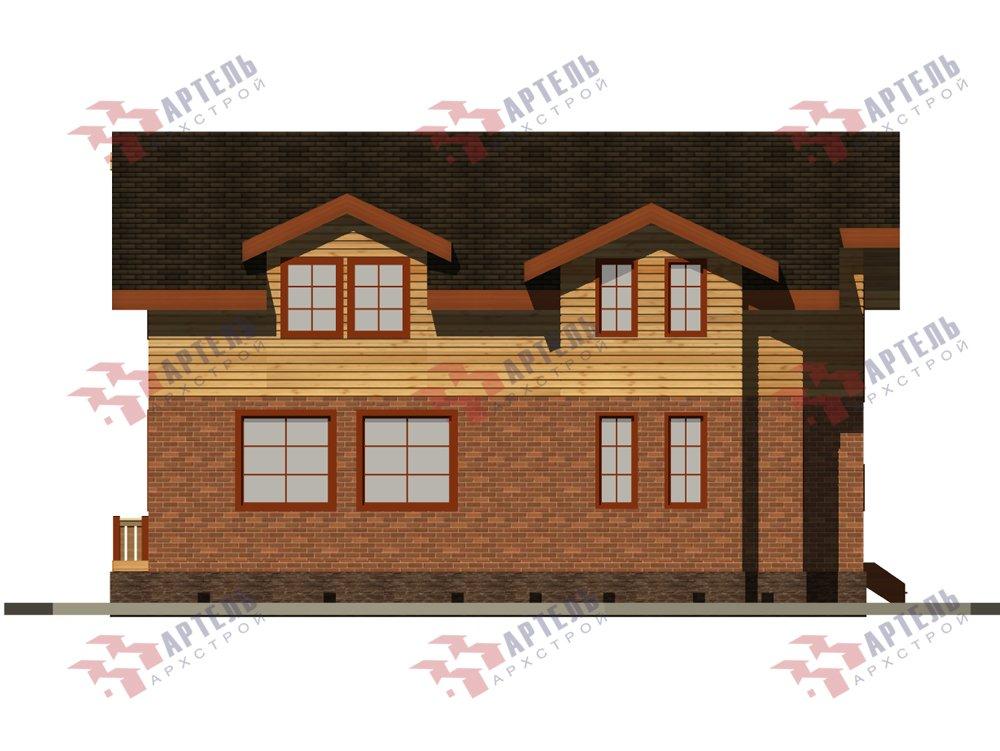 двухэтажный дом омбинированные дома площадью от 150 до 200 кв. м. с  балконом, эркером, проект Вариант 26 Камень и Комбинированный фотография 6230