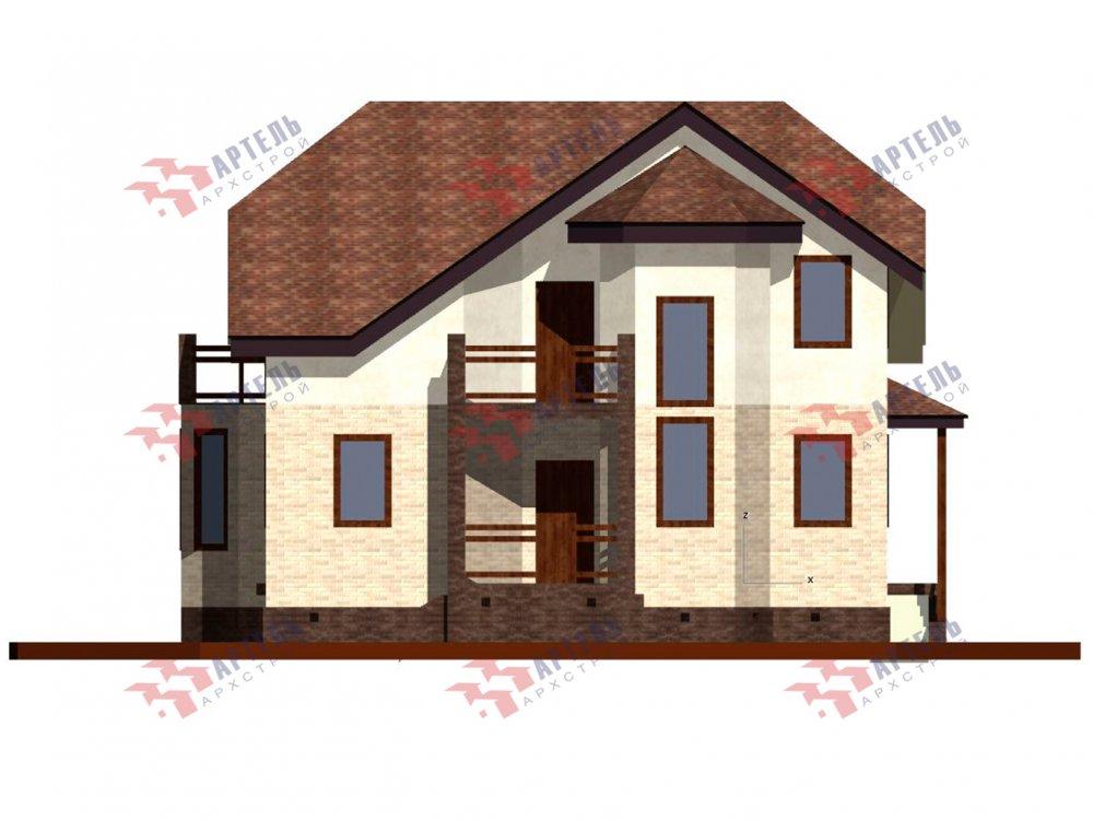 двухэтажный дом из камня площадью от 150 до 200 кв. м. с  балконом, эркером, проект Вариант 25 фотография 6443