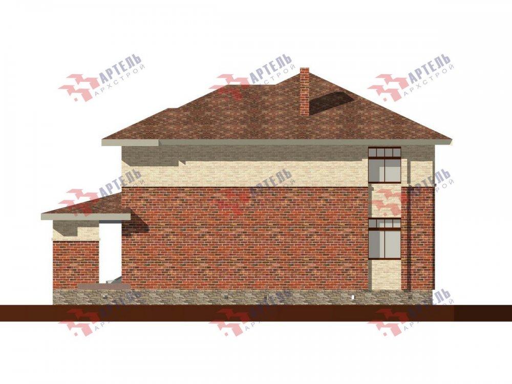 двухэтажный дом омбинированные дома площадью свыше 200 кв. м., проект Вариант 18,4А Камень и Комбинированный фотография 6072