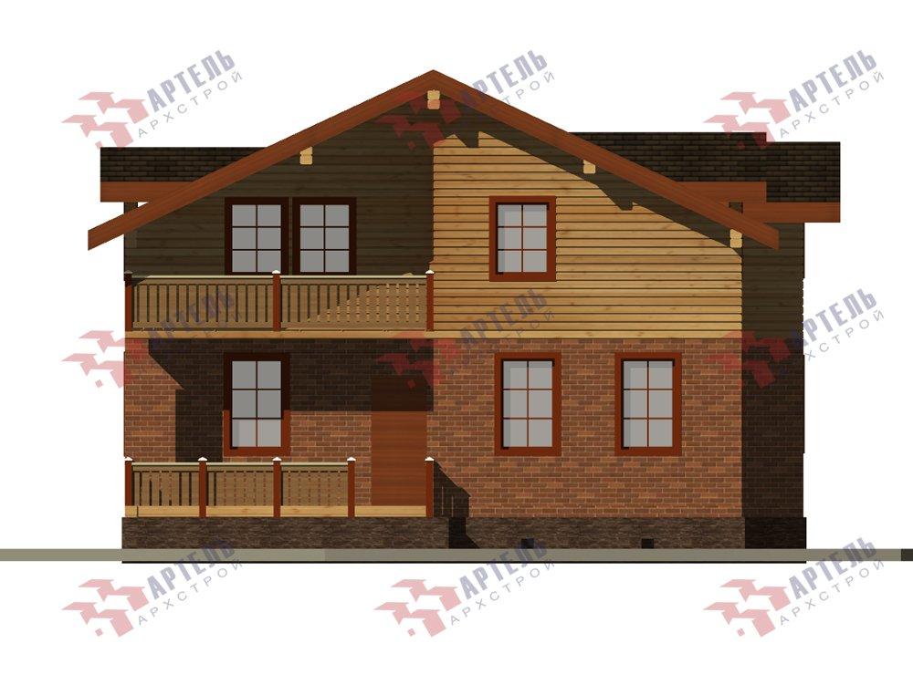 двухэтажный дом омбинированные дома площадью от 150 до 200 кв. м. с  балконом, эркером, проект Вариант 26 Камень и Комбинированный фотография 6231