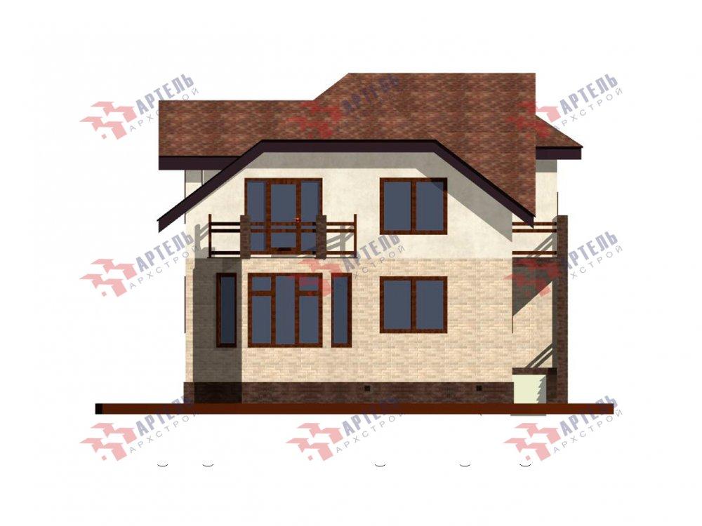 двухэтажный дом из камня площадью от 150 до 200 кв. м. с  балконом, эркером, проект Вариант 25 фотография 6444