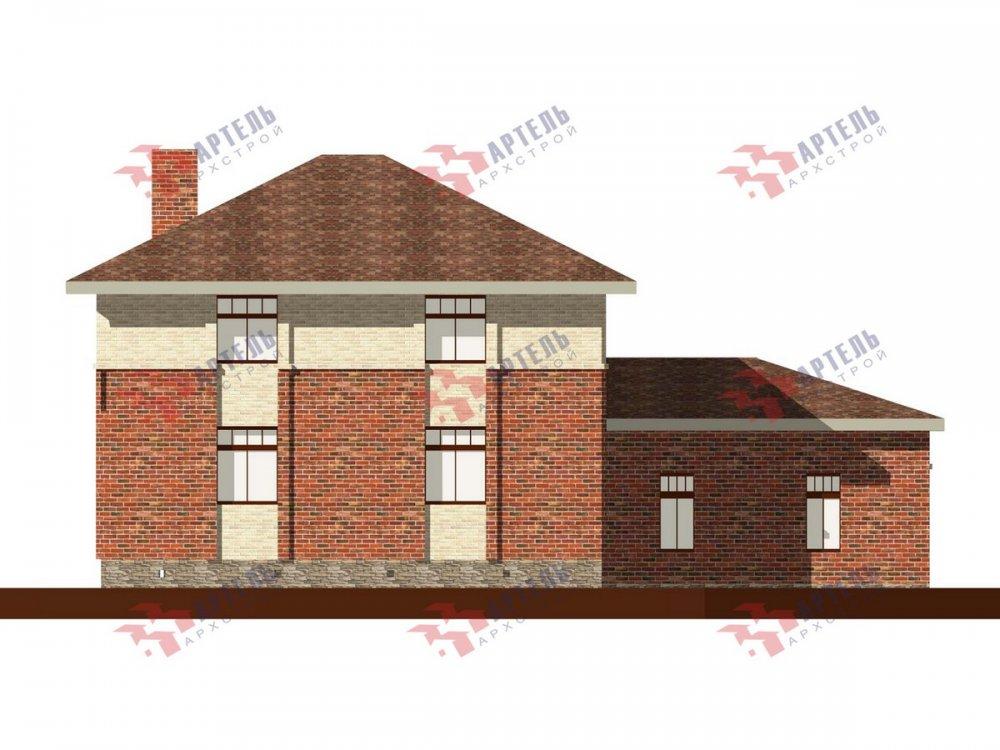 двухэтажный дом омбинированные дома площадью свыше 200 кв. м., проект Вариант 18,4А Камень и Комбинированный фотография 6073