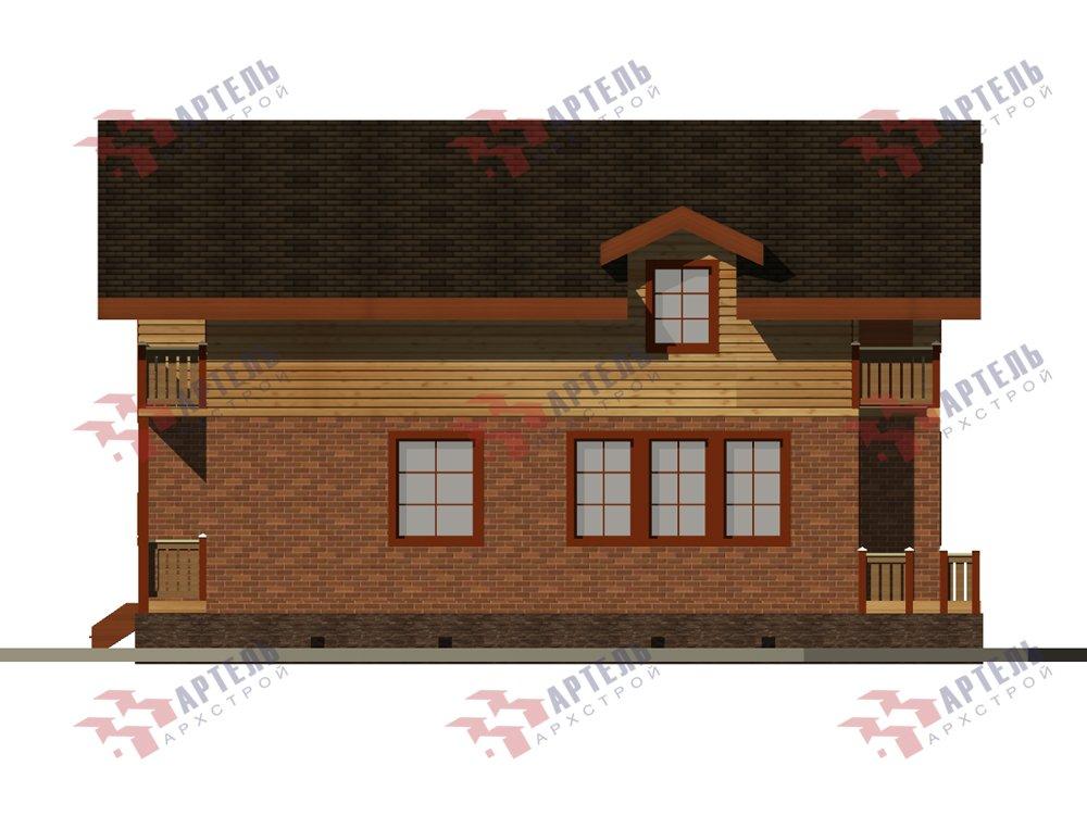 двухэтажный дом омбинированные дома площадью от 150 до 200 кв. м. с  балконом, эркером, проект Вариант 26 Камень и Комбинированный фотография 6232