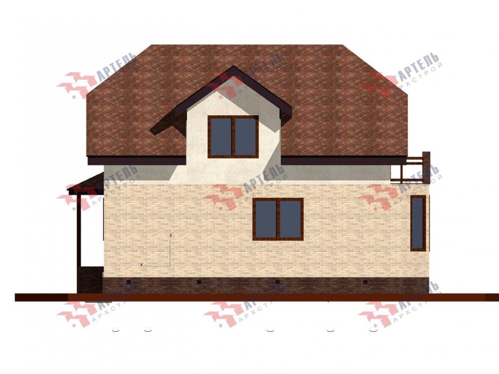двухэтажный дом из камня площадью от 150 до 200 кв. м. с  балконом, эркером, проект Вариант 25 фотография 6445