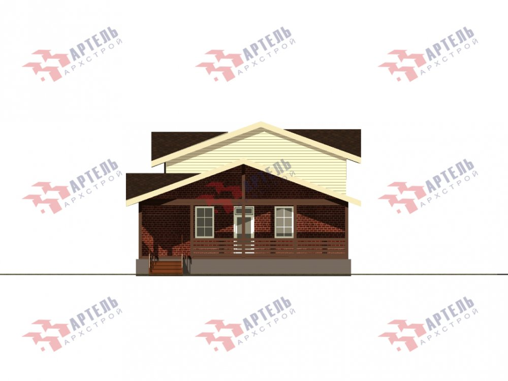 дом омбинированные дома, проект Вариант 15,9К Комбинированный фотография 5584