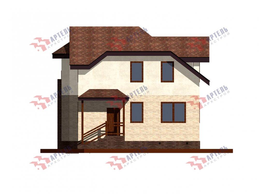 двухэтажный дом из камня площадью от 150 до 200 кв. м. с  балконом, эркером, проект Вариант 25 фотография 6446