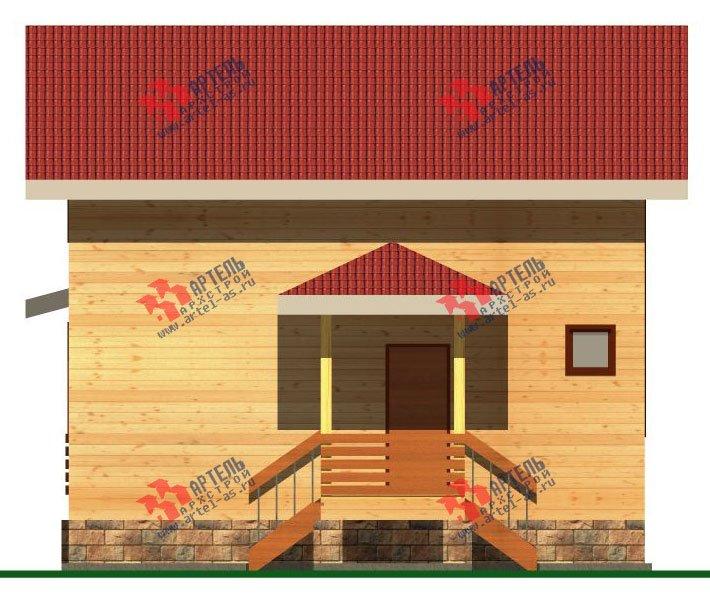 двухэтажный дом из бруса площадью от 100 до 150 кв. м. с  балконом, мансардой, террасой, проект Вариант 8 М фотография 2372
