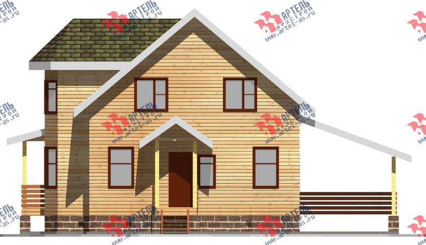 двухэтажный дом из бруса площадью от 150 до 200 кв. м. с  балконом, мансардой, террасой, эркером, проект Вариант 8 С фотография 2383