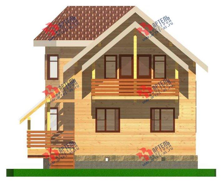 двухэтажный дом из бруса площадью от 100 до 150 кв. м. с  балконом, мансардой, эркером, проект Вариант 6.2 К фотография 2783