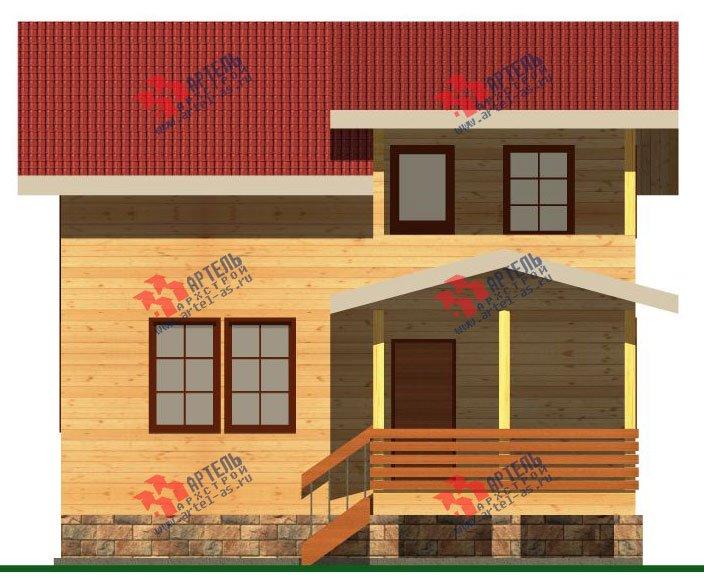 двухэтажный дом из бруса площадью от 100 до 150 кв. м. с  балконом, мансардой, террасой, проект Вариант 8 М фотография 2373