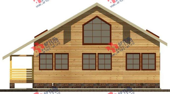 двухэтажный дом из бруса площадью от 150 до 200 кв. м. с  мансардой, террасой, эркером, проект Вариант 14 В фотография 2340