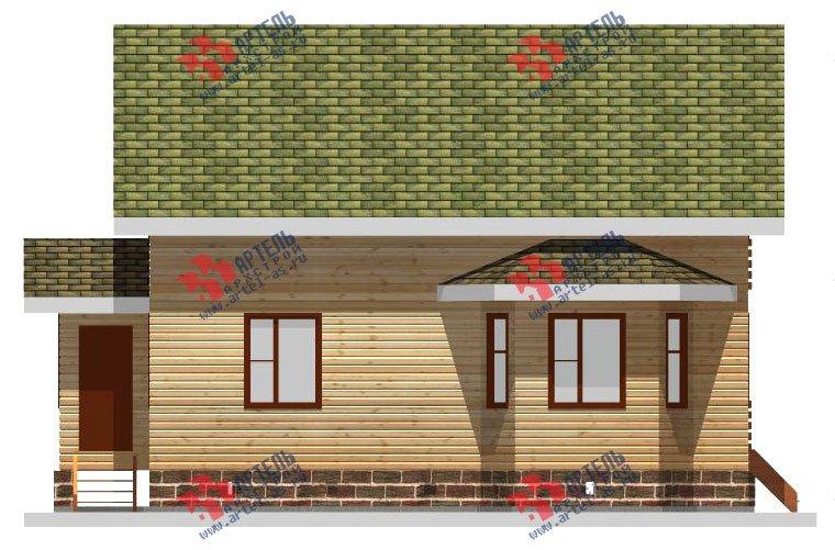 двухэтажный дом из профилированного бруса площадью от 100 до 150 кв. м. с  балконом, мансардой, эркером, проект Вариант 10 И фотография 2352