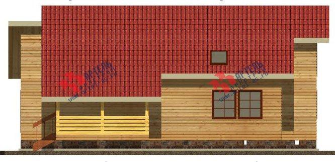 двухэтажный дом из бруса площадью от 150 до 200 кв. м. с  мансардой, террасой, эркером, проект Вариант 14 В фотография 2341