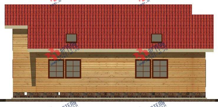 двухэтажный дом из бруса площадью от 150 до 200 кв. м. с  мансардой, террасой, эркером, проект Вариант 14 В фотография 2342