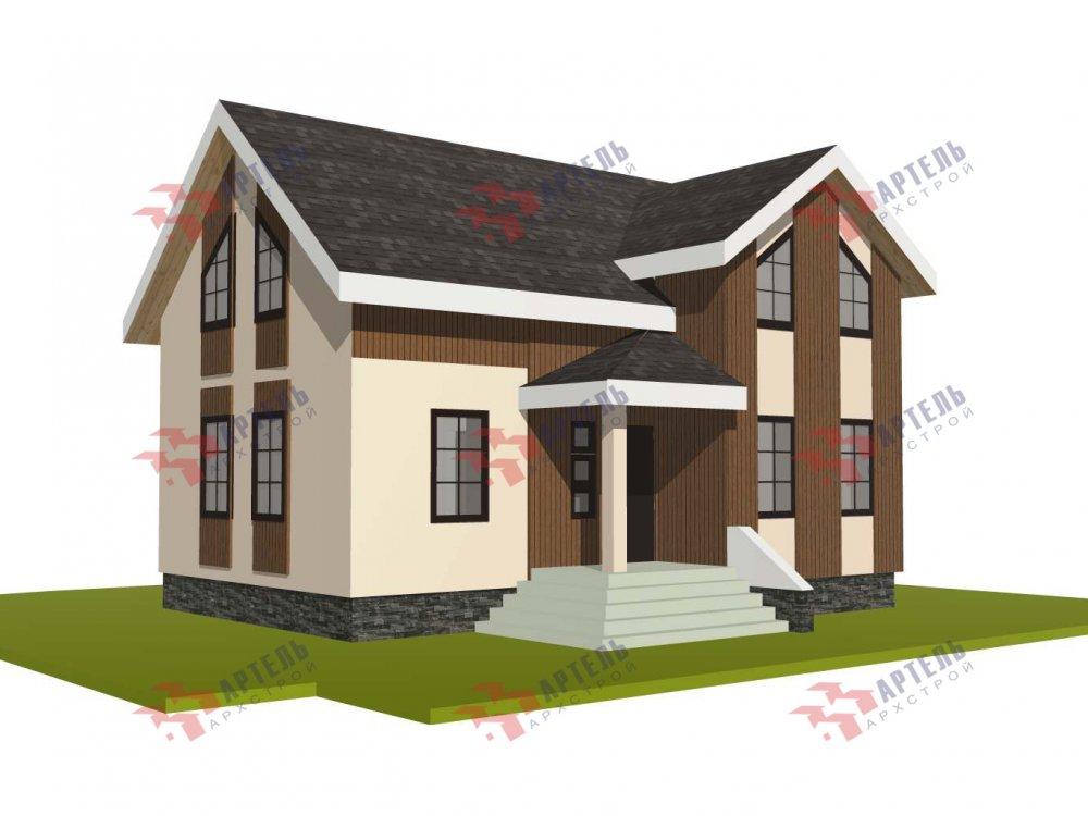двухэтажный дом омбинированные дома площадью от 100 до 150 кв. м. с  эркером, проект Вариант 9 фотография 5991