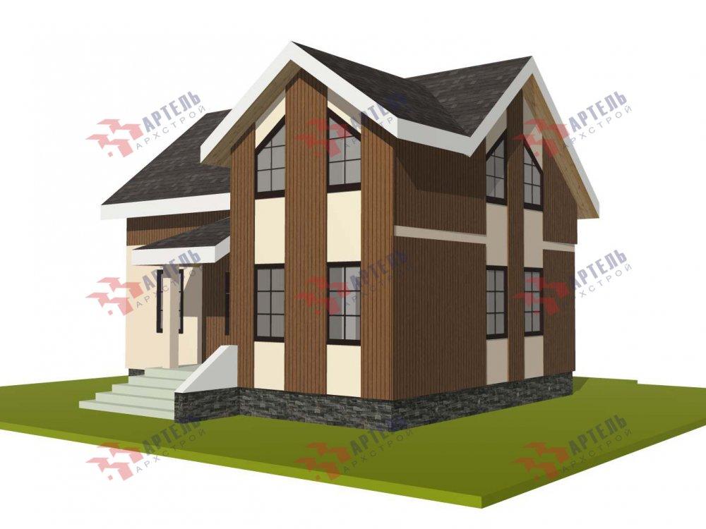 двухэтажный дом омбинированные дома площадью от 100 до 150 кв. м. с  эркером, проект Вариант 9 фотография 5992
