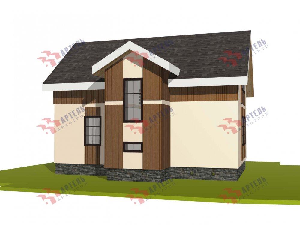 двухэтажный дом омбинированные дома площадью от 100 до 150 кв. м. с  эркером, проект Вариант 9 фотография 5993