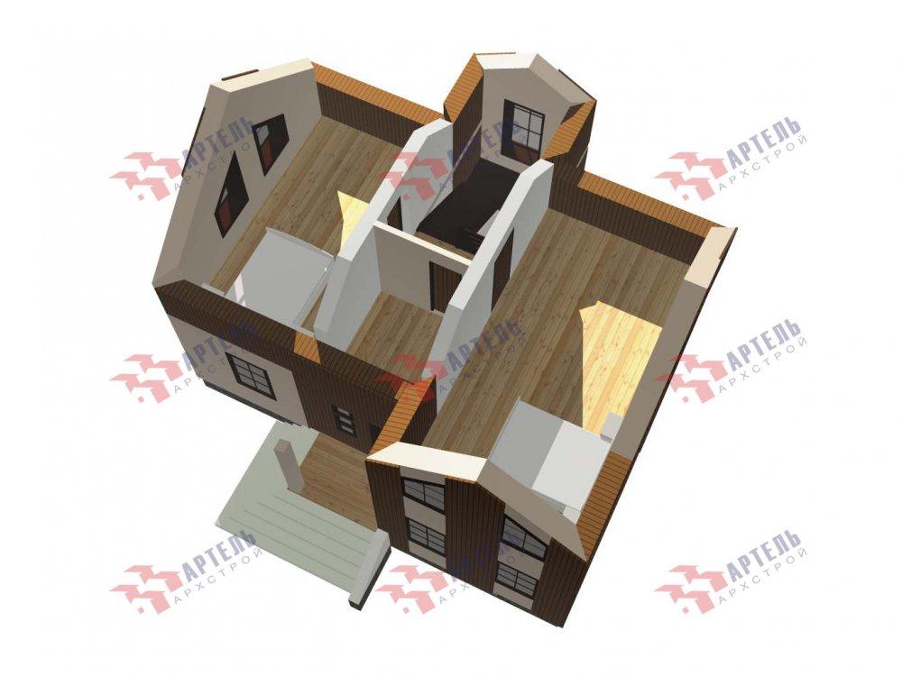 двухэтажный дом омбинированные дома площадью от 100 до 150 кв. м. с  эркером, проект Вариант 9 фотография 5994