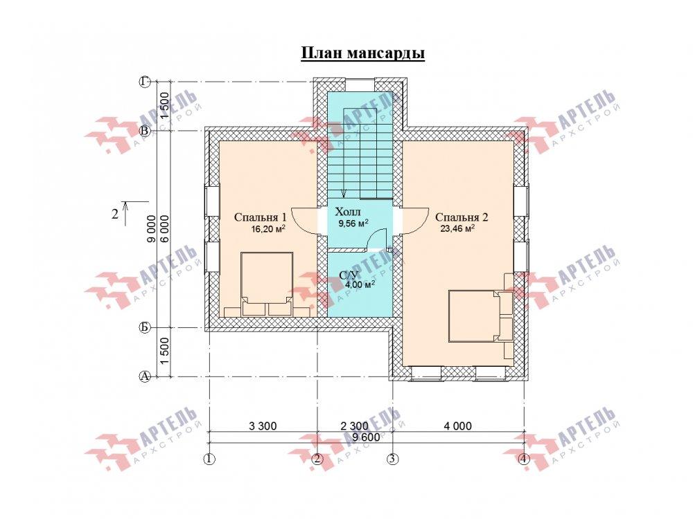 двухэтажный дом омбинированные дома площадью от 100 до 150 кв. м. с  эркером, проект Вариант 9 фотография 5997
