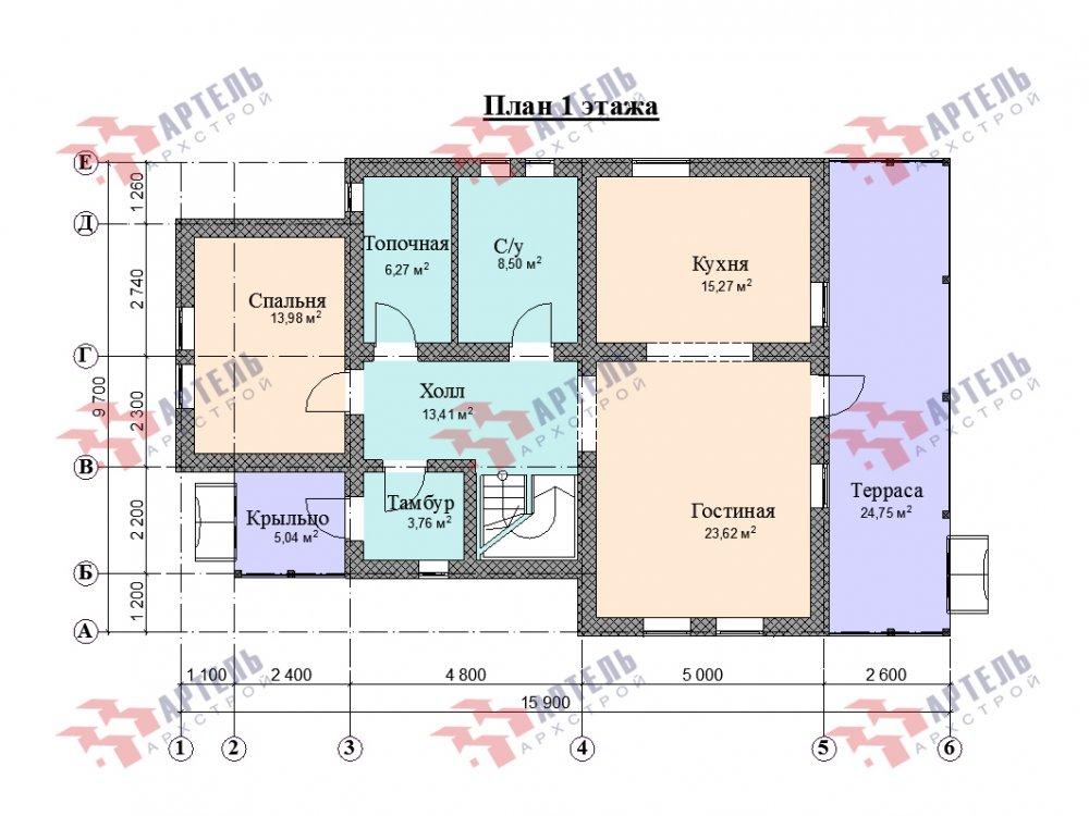 дом омбинированные дома, проект Вариант 15,9К Комбинированный фотография 5585