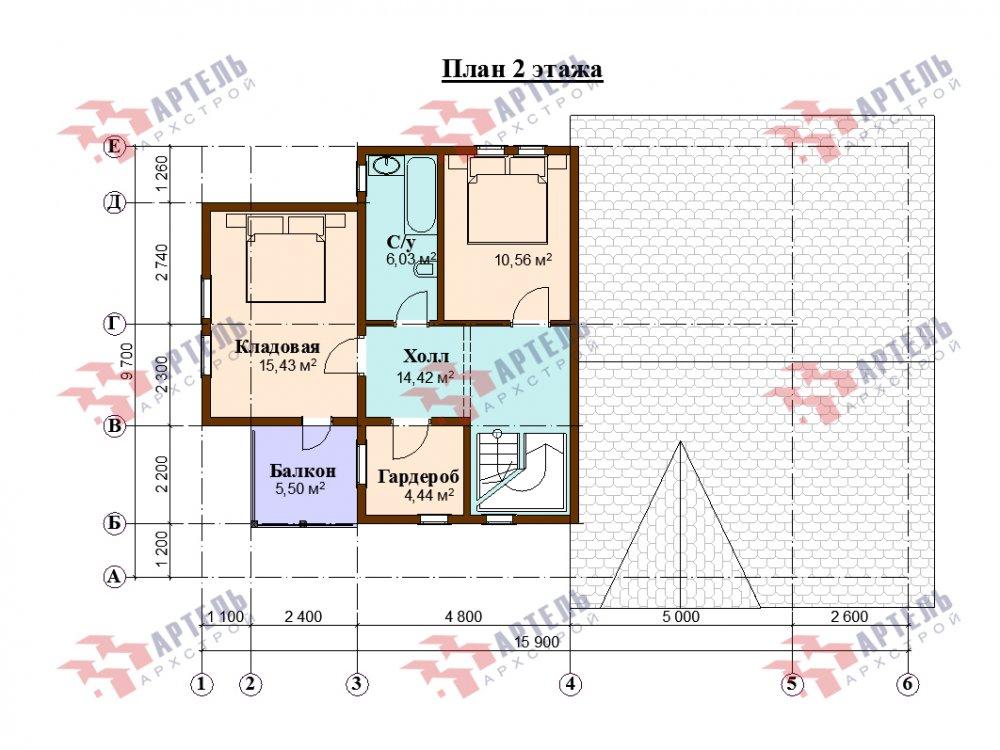 дом омбинированные дома, проект Вариант 15,9К Комбинированный фотография 5586
