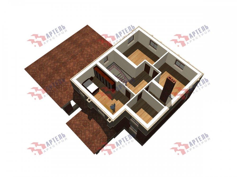 двухэтажный дом омбинированные дома площадью свыше 200 кв. м., проект Вариант 18,4А Камень и Комбинированный фотография 6082