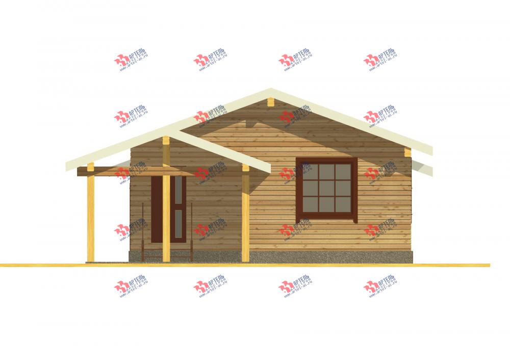 одноэтажный дом из профилированного бруса площадью от 100 до 150 кв. м., проект Вариант 7.8 Б фотография 3537