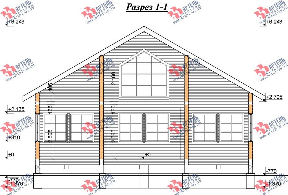 двухэтажный дом из бруса площадью от 150 до 200 кв. м. с  мансардой, террасой, эркером, проект Вариант 14 В фотография 2345