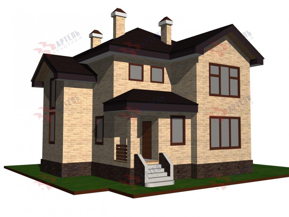 двухэтажный дом омбинированные дома площадью от 150 до 200 кв. м. с  эркером, проект Вариант 10 фотография 6364