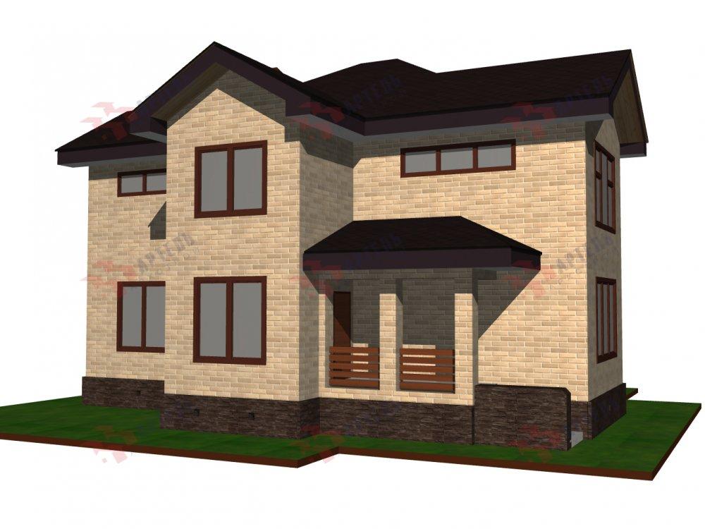 двухэтажный дом омбинированные дома площадью от 150 до 200 кв. м. с  эркером, проект Вариант 10 фотография 6365