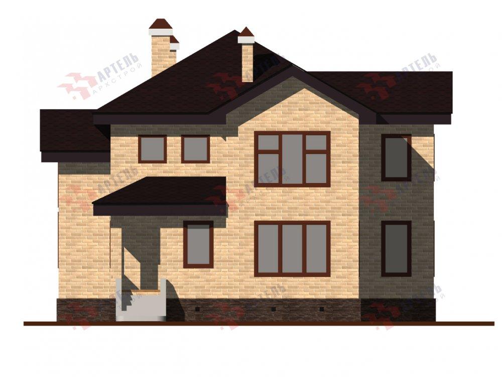 двухэтажный дом омбинированные дома площадью от 150 до 200 кв. м. с  эркером, проект Вариант 10 фотография 6366