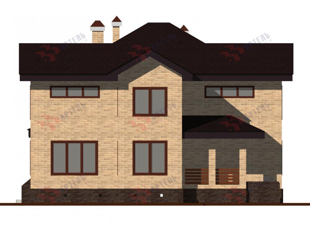 двухэтажный дом омбинированные дома площадью от 150 до 200 кв. м. с  эркером, проект Вариант 10 фотография 6367